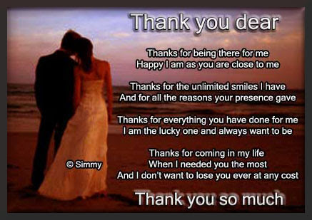 Thank You Dear Free For Your Love Ecards Greeting Cards 123