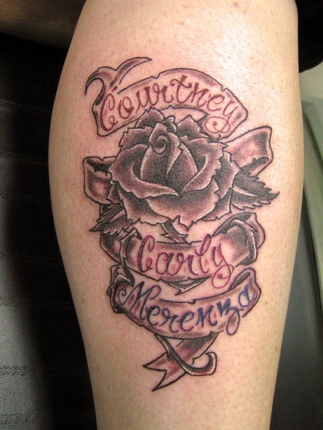 Rose Banner Tattoo Picture