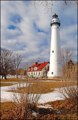 Wind Point Lighthouse in December