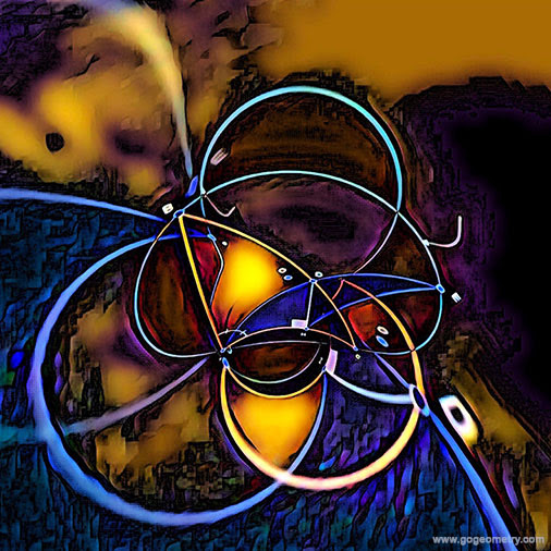 Geometric Transformation Art of Problem 1305, Triangle, Circle, iPad Apps