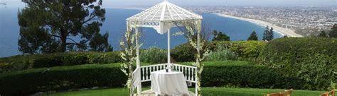 Ocean view wedding venues in Southern California