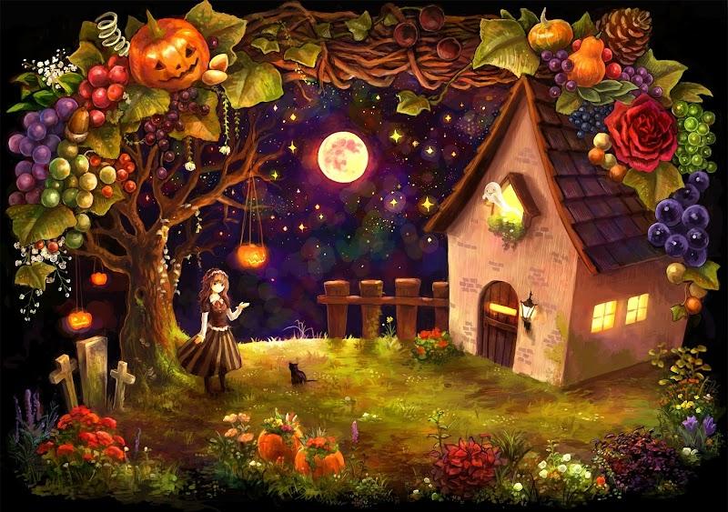 halloween wallpaper landscape