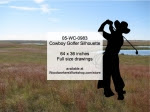 Cowboy Golfer Silhouette Yard Art Woodworking Pattern - fee plans from WoodworkersWorkshop® Online Store - golfing,golfers,cowboys,ranchers,cowhands,cattleman,yard art,painting wood crafts,drawings,plywood,plywoodworking plans,woodworkers projects,workshop blueprints