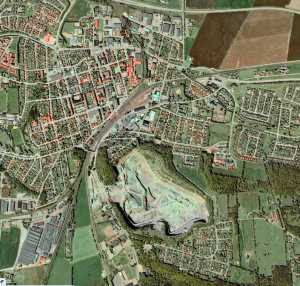 Flygbild över Åstorp