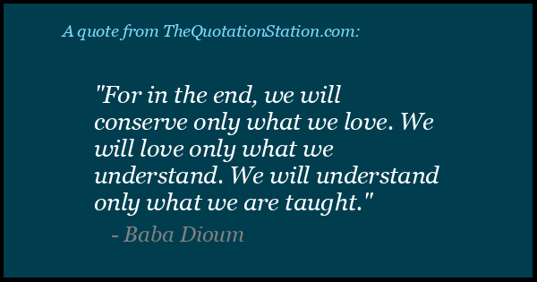Quotes By Baba Dioum The Quotation Station