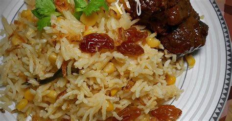nasi jagung  daging masak itam pulau pinang fizas