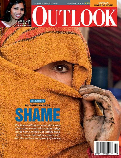 The Indian magazine Outlook is really into the One-Eye sign, hinting that its agenda is pro-elite. This cover is from December 2013.