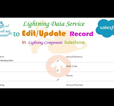 Salesforce Lightning Data Service to Edit /Update Record of Account Object in Lightning Component Salesforce