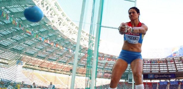 Tatyana Beloborodova durante o Mundial de Moscou de 2013