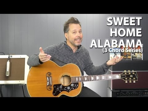 Sweet Home Alabama CHORDS Lynyrd Skynyrd beginner guitar lesson ...