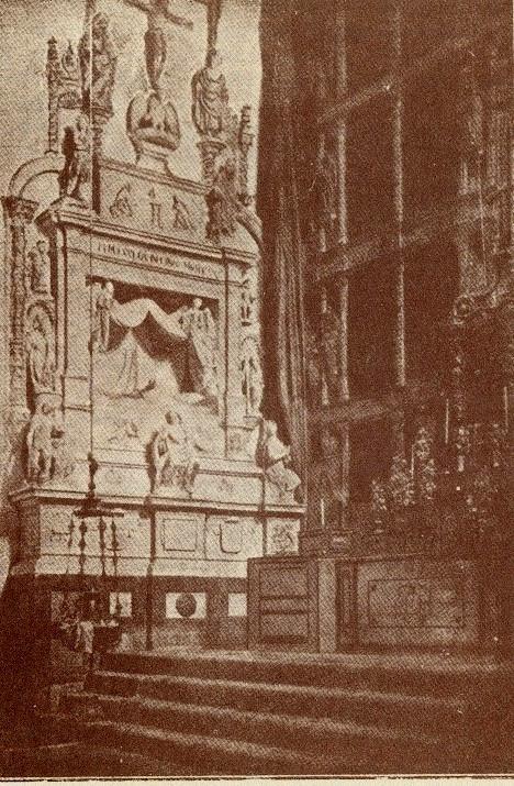 Sepulcro de Fray Francisco Ruiz (Obispo de Ávila) en el desaparecido Convento de San Juan de la Penitencia (Toledo) a principios del siglo XX