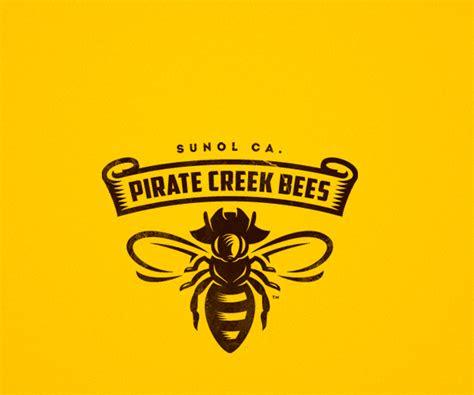 creek bees honey logo designerpng  beekeeping