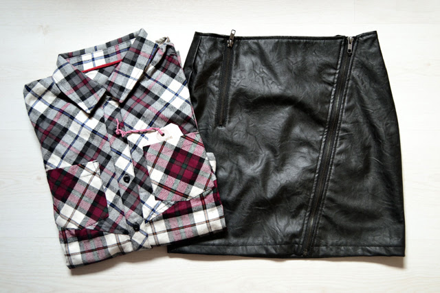 bank fashion webshop clothes bellfield check plaid shirt leather skirt zippers inspiration new in fashion blogger trend turn it inside out belgium