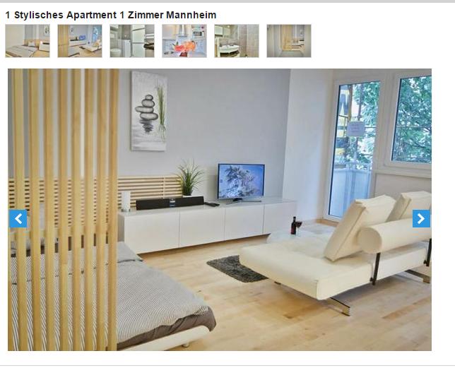 1 stylisches apartment 1 zimmer mannheim seckenheimer stra e 73. Black Bedroom Furniture Sets. Home Design Ideas