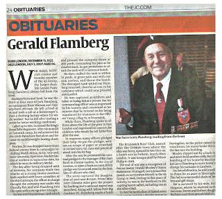 Click to read Gerald Flamberg's obituary