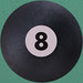 Round Playing Card 8 Ball