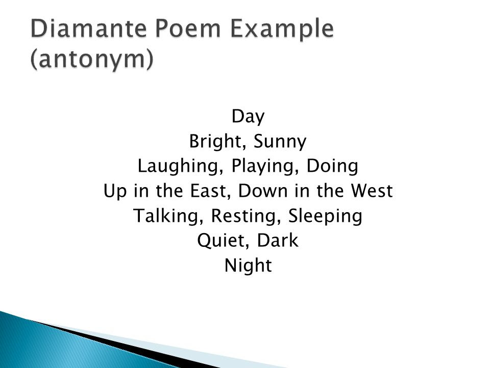 what is the definition of a diamante poem