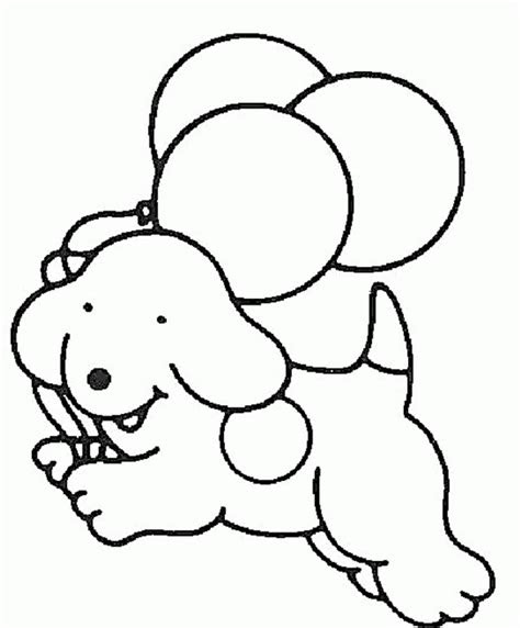 easy dog coloring pages animal coloring pages