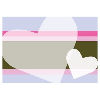 Two Hearts with Purple and Pink Stripe stamp