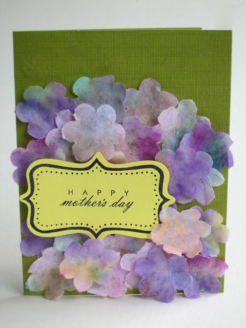 Coffe Filter Purple Flower Mothers Day Card