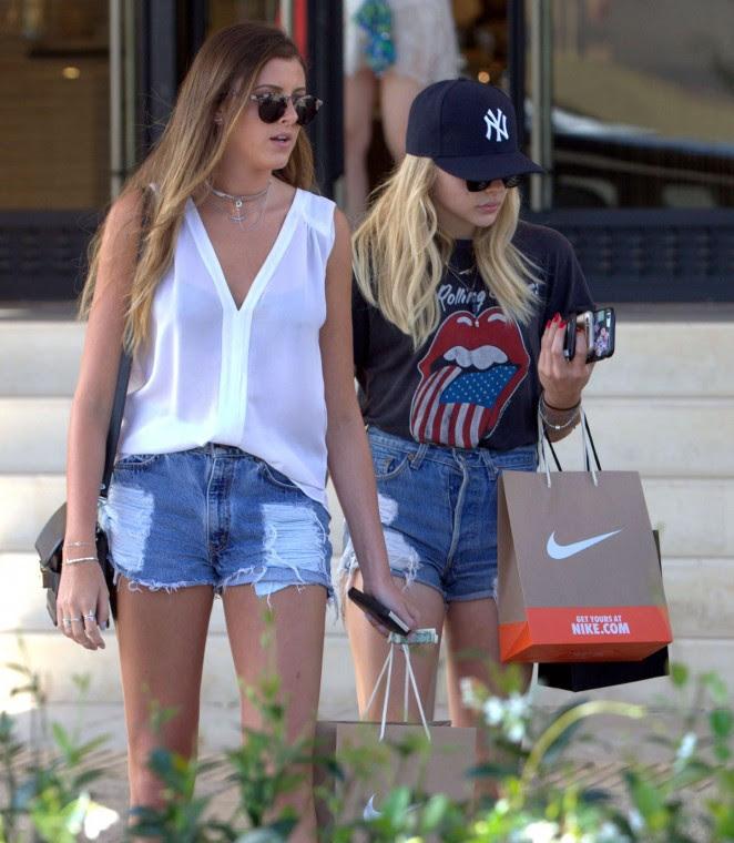 Chloe Moretz in Jeans Shorts -01