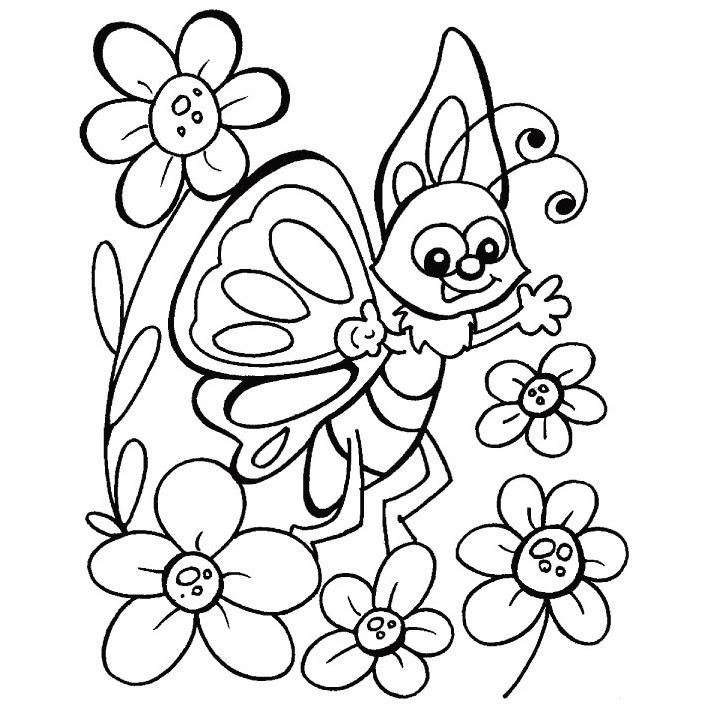 Mariposas Y Flores Para Colorear E Imprimir