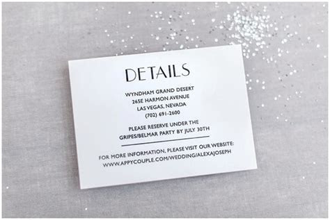 The Essential Guide To Wedding Invitation Info Cards
