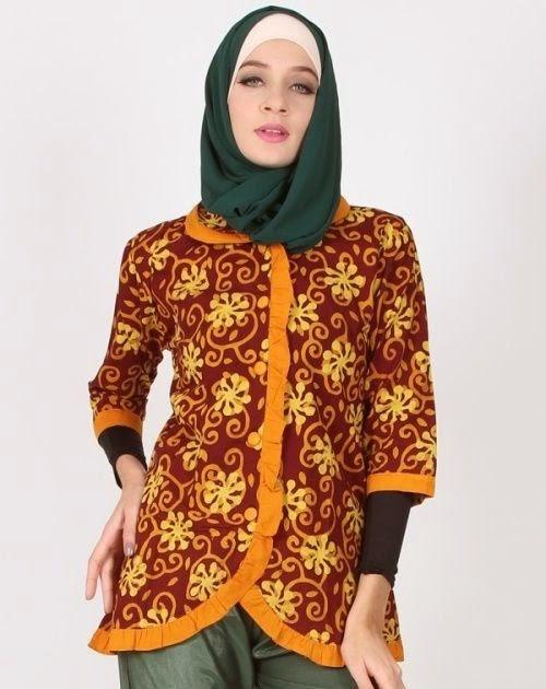 Desain Baju Batik Muslim Modern - Hijab Casual