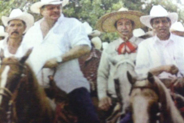 """Fidel Herrera y el narcotraficante confeso Francisco """"Pancho"""" Colorado. Foto: Especial"""