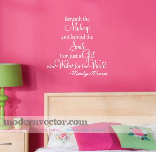Marilyn Monroe Quote Livingroom Vinyl Wall Quote Decal  eBay