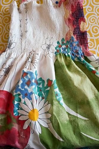 Shirred Ikea dress
