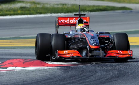 Lewis Hamilton testing in Barcelona