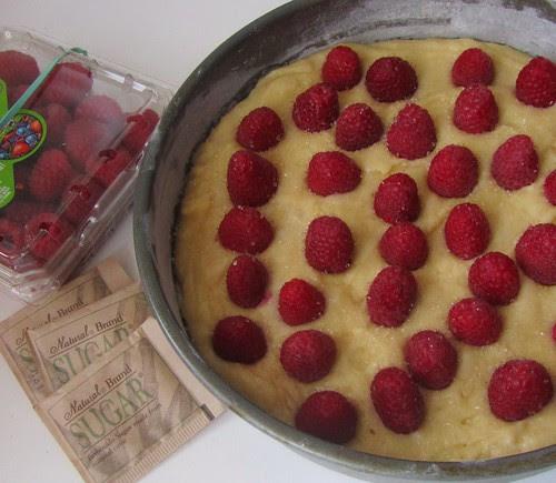 Raspberry Buttermilk Cake, Oven-ready
