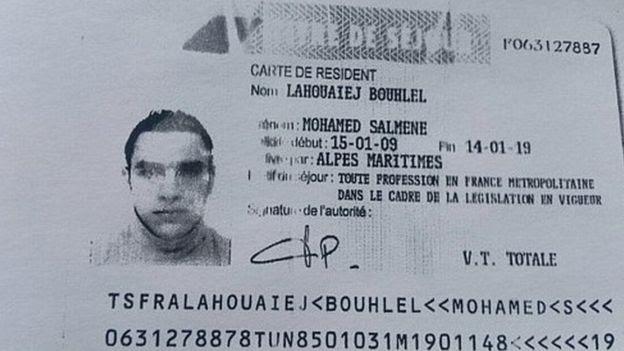 Residence permit of Lahouaiej-Bouhlel