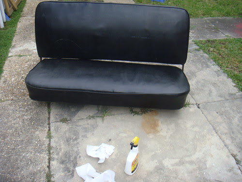 Polished up bench seat
