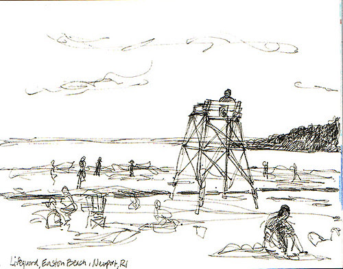 Lifeguard, Easton's Beach, Newport, RI