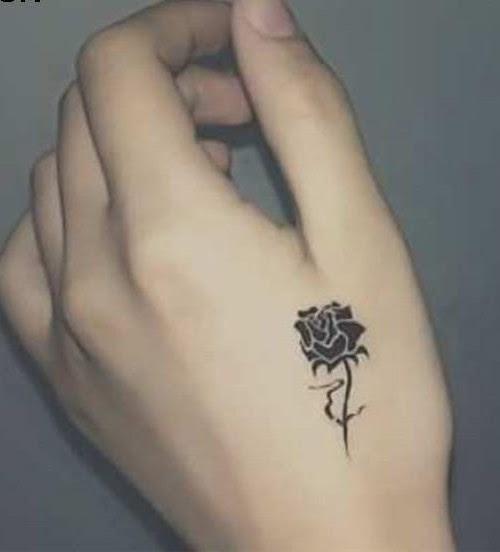 Tatuaje Rosa Negra Pequeña Tattooart Hd