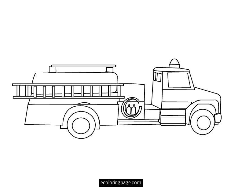 31 Dessins De Coloriage Camion Pompier à Imprimer Sur Laguerchecom