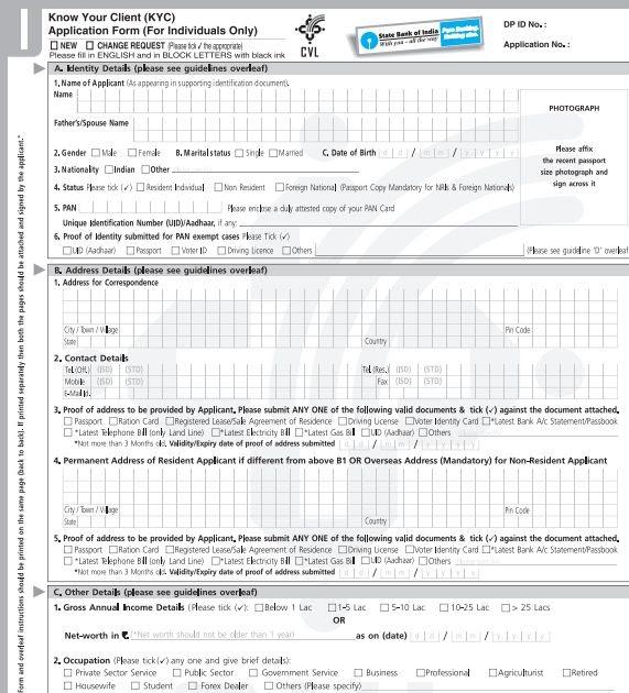 bank of maharashtra kyc form online