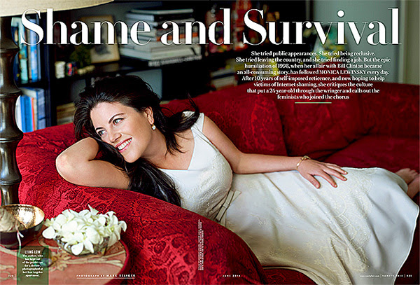 Monica Lewinsky in the May 8, 2014, online issue of Vanity Fair