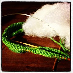 A little frog to be. #knitting