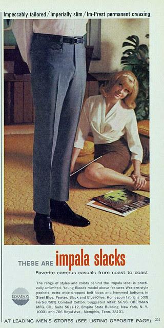 1966 slacks ad