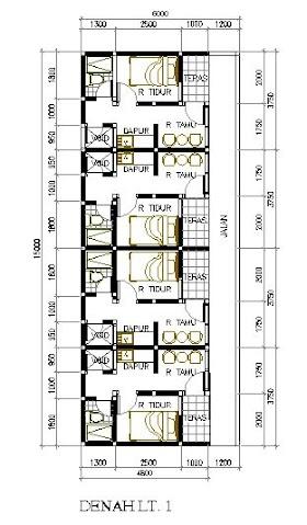 Sketsa Rumah 5x10