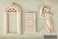 Набор гипсовых украшений от Prima - Shabby Chic Resin Treasures Parlor, 3 шт. - ScrapUA.com