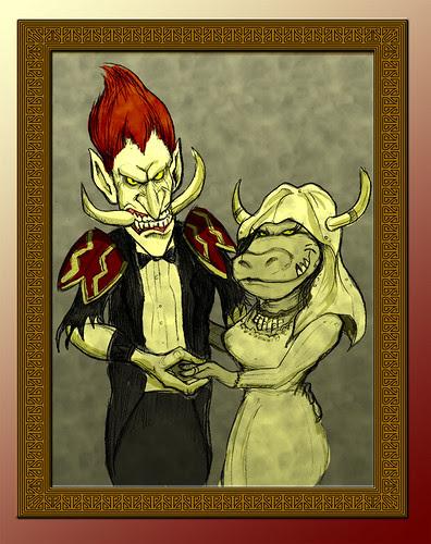 A Tauren and Troll Wedding