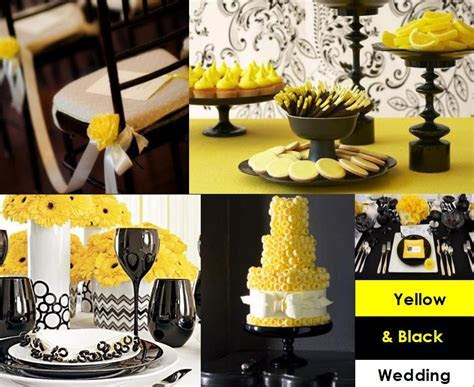 Yellow and black for your wedding decoration ? Weddings on
