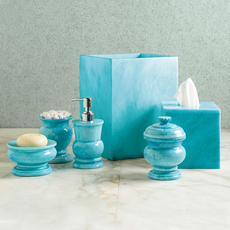 Sky Blue  Marble Bath  Accessories  Gump s