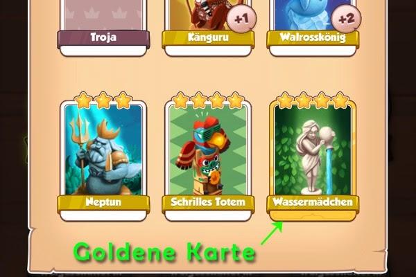 Coin Master Goldene Karten