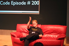 Robert Scoble on the red couch