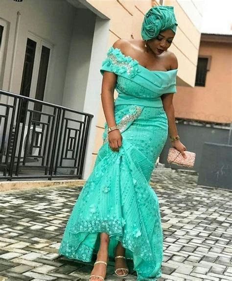 Latest Lace Asoebi Styles For Wedding Guests